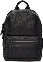 Lanvin Black Crinkled Leather Backpack