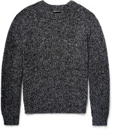 Alexander Wang - Ribbed Mélange Cotton-blend Sweater