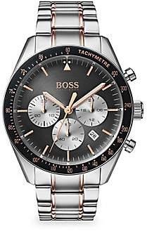 HUGO BOSS Men's Trophy Two-Tone Stainless Steel Chronograph Bracelet Watch