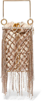 Rosantica Rimbaud Fringed Crystal-embellished Gold-tone And Velvet Tote - One size