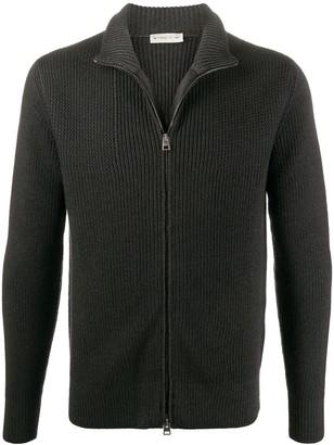 Etro Zip-Through Ribbed Sweater