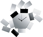 Alessi La Stanza Dello Scirocco Wall Clock - Large - Stainless Steel