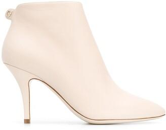 Salvatore Ferragamo Joan almond-toe ankle boots