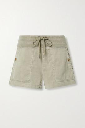 James Perse Military Slub Cotton-blend Shorts - Mushroom