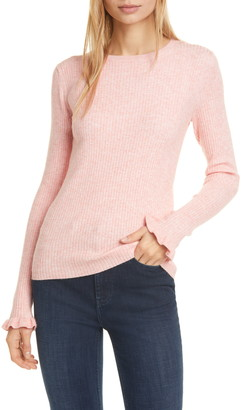 La Vie Rebecca Taylor Ribbed Long Sleeve Sweater