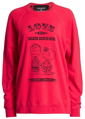 Marc Jacobs Peanuts x The Love Distressed Cotton Sweatshirt