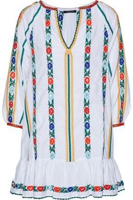 Love Sam Embellished Cotton And Linen-blend Mini Dress