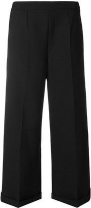 MM6 MAISON MARGIELA Tailored Wide Leg Cropped Trousers