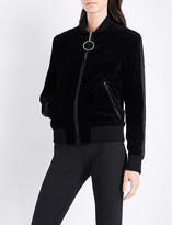Thierry Mugler Zip-up velvet bomber jacket