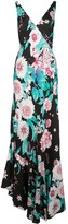 Diane von Furstenberg deep V-neck floral print dress