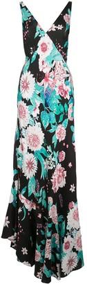 Dvf Diane Von Furstenberg deep V-neck floral print dress