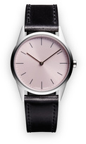 Uniform Wares C33 Women's two-hand watch in polished steel with mist textured calf leather strap