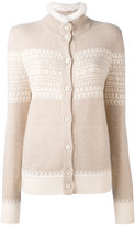 Loro Piana cashmere high neck buttoned cardigan - women - Mink Fur/Cashmere - 44