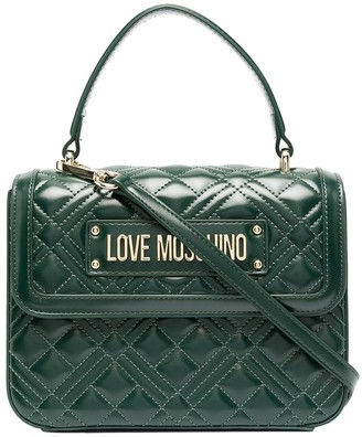 Love Moschino Quilted Top-Handle Box Bag