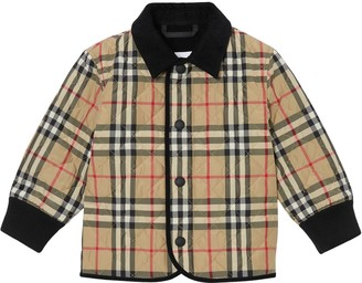 Burberry Check Nylon Quilted Jacket