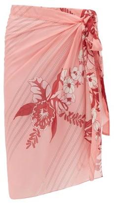 Etro Floral-print Cotton-blend Sarong - Pink Print