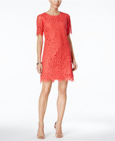 Jessica Howard Lace Elbow-Sleeve Dress