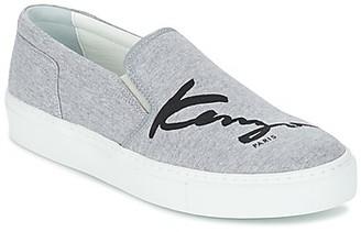 Kenzo K-SKATE women's Slip-ons (Shoes) in Grey