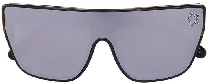 Stella McCartney Eyewear tortoiseshell embellished square sunglasses