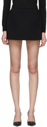RED Valentino Black Scallop Miniskirt