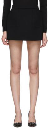 RED Valentino Black Scallop Miniskirt