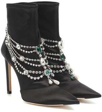 Jimmy Choo Lyja satin ankle boots