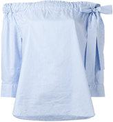 Lareida striped off shoulder blouse