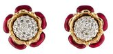 Judith Leiber Crystal Flower Earrings