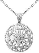Sterling Silver Diamond Accent Circle Pendant