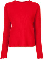 The Elder Statesman ribbed cut edge sweater