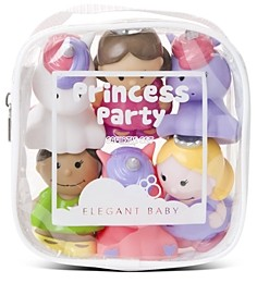Elegant Baby Girls' 6-Piece Princess Party Squirters Bath Toys, Baby - Ages 0+