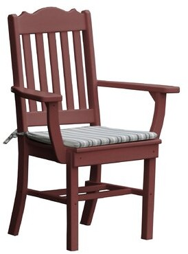 Oxford Patio Dining Chair Radionic Hi Tech Color: Black