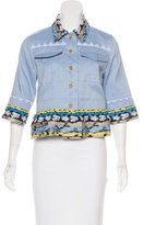Peter Pilotto Embroidered Button-Up Top