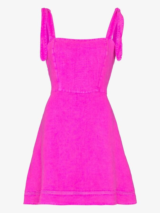 Thumbnail for your product : HONORINE Pink Kiki Linen Mini Dress