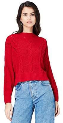 find. Women's Jumper in Chunky Cable Knit with Long Sleeves and Turtleneck,(Manufacturer size: Medium)