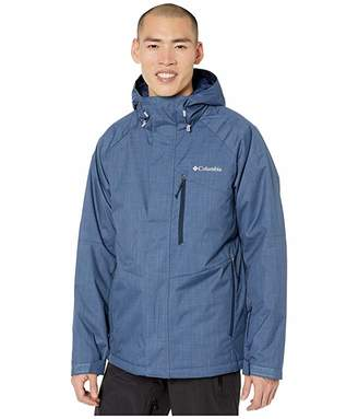 Columbia Chuterunnertm II Jacket (Dark Mountain Heather/Collegiate Navy/Azul Zips) Men's Coat