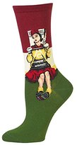 Hot Sox Women's Norman Rockwell Collection Crew Socks
