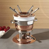 Crate & Barrel Swissmar Lausanne 11-Piece Copper Fondue Set