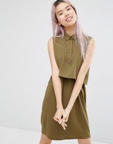 Monki Double Layer Shirt Dress