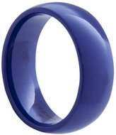 Blue Ceramic Ring by CERAMIC GESTALT® - 8mm Width. Domed & Polished. (Avail. Sizes 5 to 14) Size 12.5 - RB8DP125