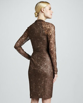 David Meister Lace Cocktail Dress with Embellished Empire Waist
