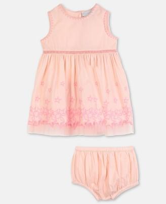 Stella McCartney stars embroidery cotton dress