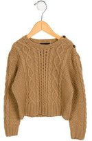 Oscar de la Renta Girls' Cashmere Cable Knit Sweater w/ Tags