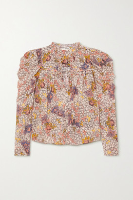 Ulla Johnson Remy Ruffled Floral-print Cotton-blend Blouse - Ivory