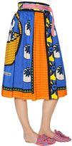 Stella Jean Wrap Over Printed Cotton Gabardine Skirt