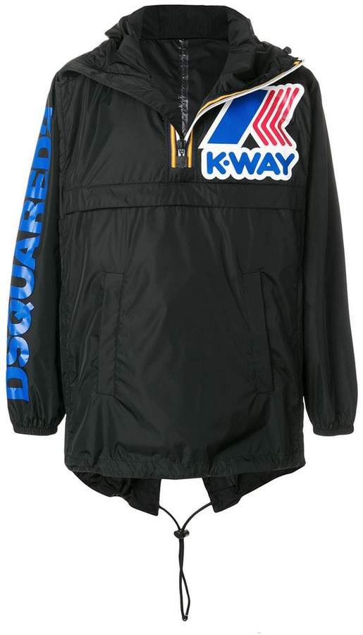 DSQUARED2 logo print windbreakers