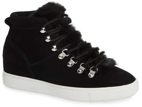 8022b20b6cb Kalea-F Hidden Wedge Sneaker with Faux Fur Trim