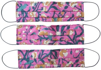 Rumour London Reusable Protective Cloth Masks With Integrated Filter In Liberty Floral Print - Columbia (Pack Of 3)