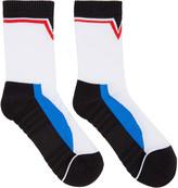 Versace White Colorblock Socks