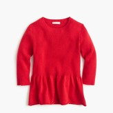 J.Crew Girls' ruffle-hem popover sweater